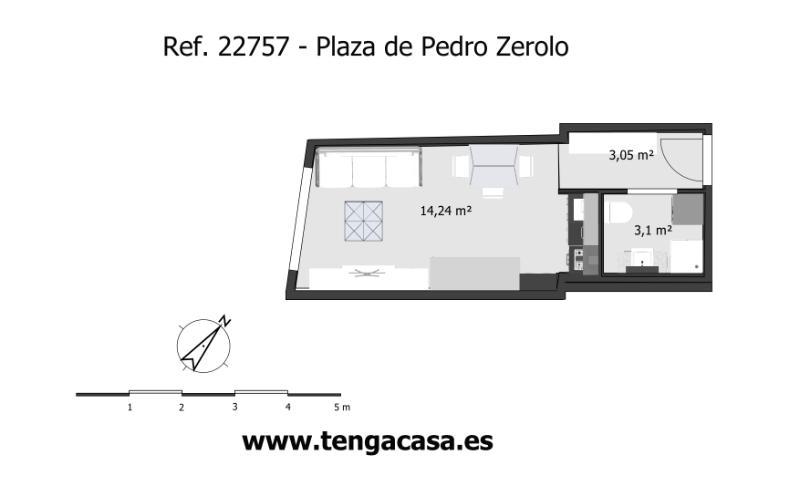 Estudio en venta en Centro - Madrid, 22757